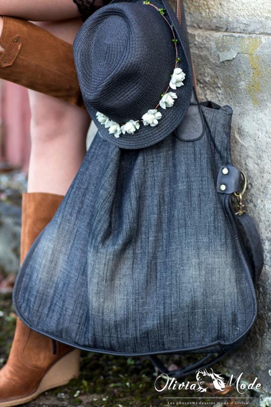 oliviamode-short-noir-dentelle-pull-orange-ample-chapeau-a-fleurs-bottes-6